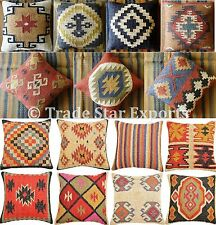 Wholesale Lot Set Of 5 Kilim Cushion Cover 18X18 Jute Pillow Sham Vintage Throw