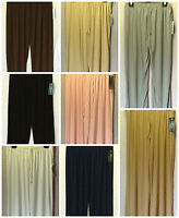 NEW WOMENS PLUS SIZES 10-22 LOOSE FIT WIDE LEG ELASTICATED TROUSER PALAZZO PANTS