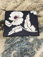 Jack Spade Blue Poppy Floral Slim Billfold,, $138, NWOT