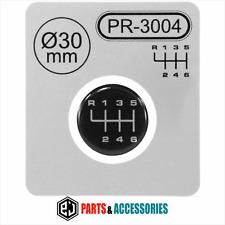 Palanca de cambio Gear Knob Pegatinas 3D abovedado Stick patrón Emblema Insignia 6 velocidad de 30 mm