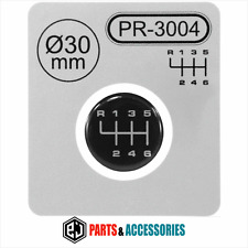 Gear Knob Shift Pattern Lever Stickers 3D Domed stick emblem badge 6 Speed 30 mm