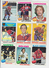 1978-79 TOPPS SIGNED CARD DOUG JARVIS CANADIENS WHALERS CAPITALS STARS BRUINS 13