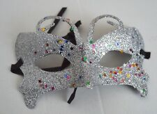 NEW Silver butterfly glitter Masquerade Mask Eye Gothic halloween fancy dress