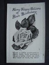 Used Black & White Greetings Post Card