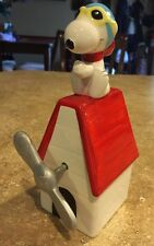 Snoopy Peanuts Flying Ace Red Baron Music Spinning Propeller Willitts ADORABLE