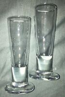"""Pair Of Tall Glass Shot Glasses - 4 3/4"""""""