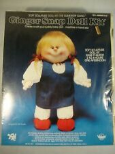 Ginger Snap Doll Kit 871 YKI Soft Sculpture Creat of Cuddly Baby Doll Sewing