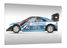 Peugeot 405 T16 - 30x20 Inch Canvas Art - Framed Picture Print Pikes Peak