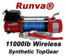 11000lb New Runva Wireless Off-Road 12V Recovery Electric Winch Kit W/ Synthetic
