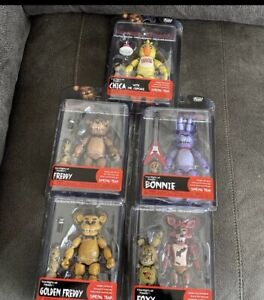 """Funko FNAF Articulated Action Figure Set 5"""" SEALED NEW AUTHENTIC"""