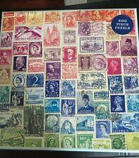 Galison Vintage Stamps Puzzle 500 pieces
