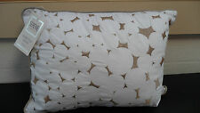 LAVA WHITE & WHITE DETAIL  FILLED SCATTER CUSHION & ONE FREE 40CM X 30CM