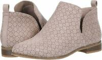 Dr. Scholl's Shoes Womens Rate Leather Almond Toe Ankle Fashion, Beige, Size 8.0