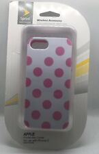 Technocel - Dual Protection Case for Apple iPhone 5/5S (Polka Dots/White)