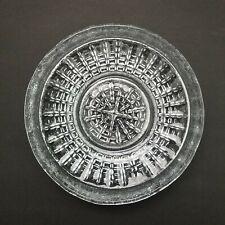 Blenko Glass Dish Tray Catchall #2403 Heavy Crystal Clear 2003 Ashtray