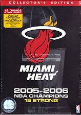 MIAMI HEAT 2005-2006 NBA CHAMPIONS 15 STRONG DVD BOXSET SEALED NEW WADE SHAQ WOW