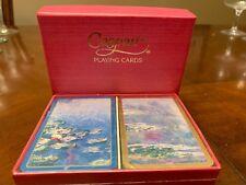 Claude Monet Waterlilies Art Double Deck Playing Card Caspari Belgium SEALED BOX
