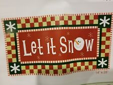 """Let It Snow Wall Hanging Quilting Kit 14"""" x 26"""""""
