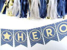 Navy/Gold Star Bunting Hen Do, anniversario, Torta Smash, baby shower, BATTESIMO