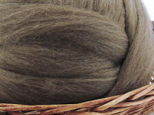 Brown Blue Face Leicester Wool Top Roving - Spinning Fiber / 1oz