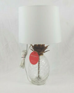 Opalhouse Textured Glass Pineapple Table Lamp Gold Leafing Includes Bulb Shade