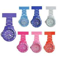 Silicone Nurse watch Coloured brouche style Tunic Quartz fob colour watches