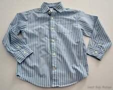 Boys Sz 5 GYMBOREE Blue White Stripe l/s Button Down Dress Shirt Frog Pond