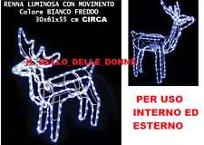 Decorazioni Luminose Natalizie Per Esterni : Renna luminosa a decorazioni per esterno natalizie acquisti