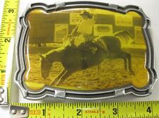RODEO BELT BUCKLE BRONCO RIDER METAL NEW FRE S/H B160