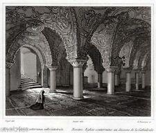Messina: Cripta del Duomo. Audot. Steel engraving.Stahlstich.+ Passepartout.1835