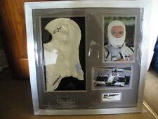 R.Barrichello used Brawn GP F1 balaclava / framed 2009
