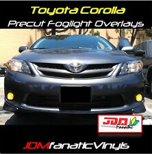 Corolla TRD Fog light JDM Yellow Overlays TINT film Kit