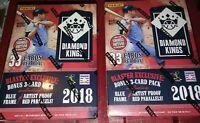 2018 Panini Diamond Kings Baseball 2 Blaster Box Lot 6 Packs  5 Cards per +