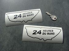 2x stickers 24H Le Mans 14cm Noir classic decals pegatinas aufkleber A231-070