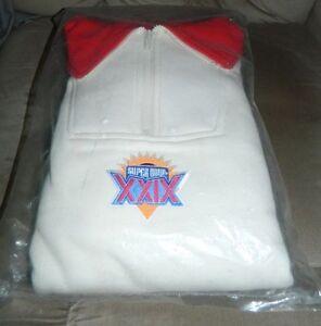 New J.J. Macintyre Super Bowl XXIX 29 Pullover Sweatshirt 49ers Chargers Size XL
