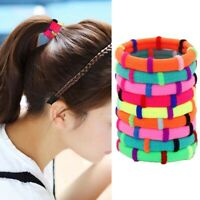 10PCS Women Candy Color Elastic Hair Band Ponytail Holder Rubber Band Headband p