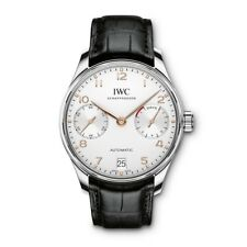 New IWC Portugieser Automatic Silver Dial Steel 42mm Mens Watch IW500704