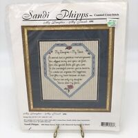My Daughter - My Friend Counted Cross Stitch #696 by Sandi Phipps SEALED NWT!