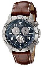 Citizen BL5250-02l Men's Eco Drive Leather Titanium Perpetual Calendar Watch