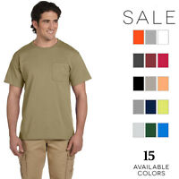 Jerzees Men's 5.6 oz. 50/50 Heavyweight Blend Pocket T-Shirt 29P S-4XL