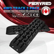 Recovery Traction 2 Packs Offroad Black Tracks Sand Snow Tire Ladder 4WD Track