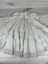 Baby Infant Vintage Baptism Christening Gown w/ruffles Handmade