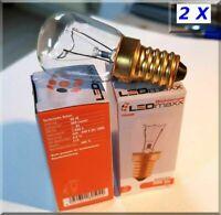Backofenlampe 40W E14 Glühlampe 40 Watt bis 300° zwei ST- Glühbirne UVP