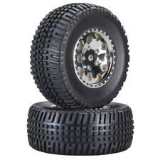 Team Associated 1/10 SC10B RS 91106 KMC Hex Wheel/Tire Chrome (2)