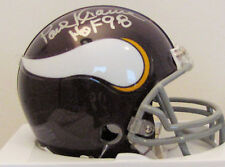 Paul Krause Minnesota Vikings Autographed Mini Helmet
