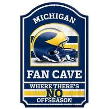 Michigan Wolverines Wooden Fan Cave Sign 11x17 Brand New Wincraft