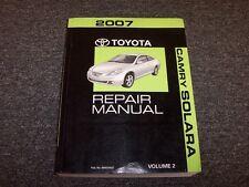 2007 Toyota Camry Solara Shop Service Repair Manual Vol2 SE SLE Sport 2.4L 3.3L
