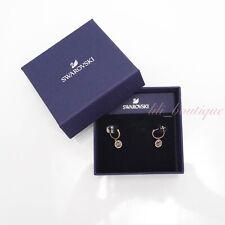 NIB Swarovski 5468739 Oxygen Pierced Earrings Crystal Grey Rose Gold Tone Plated