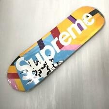 SUPREME SKATEBOARD DECK 2016SS MENDINI MULTI LOGO 100% AUTHENTIC FROM JAPAN RARE