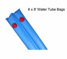 Winter Water Tube Bags 8' for In-Ground Swimming Pool Covers Blue